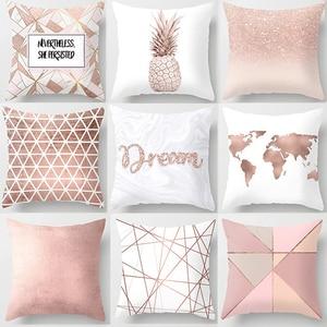Pink Throw Pillow Cushion Cove