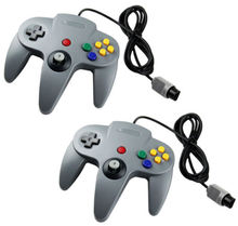 2 x Gray Controller Gamepad Joystick System FOR NINTENDO N64 Game