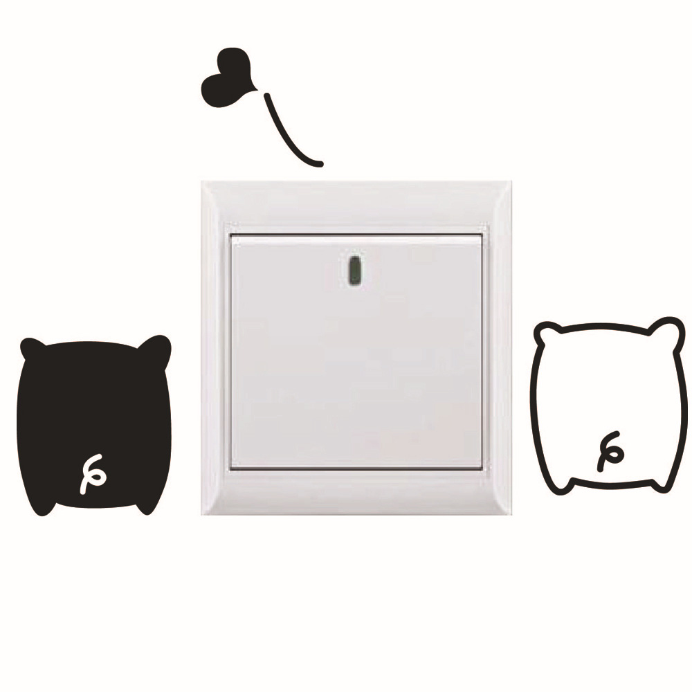 Removable Cute Animal Black And White Pig Light switch Sticker-in Wall  Stickers from Home & Garden on Aliexpress.com | Alibaba Group
