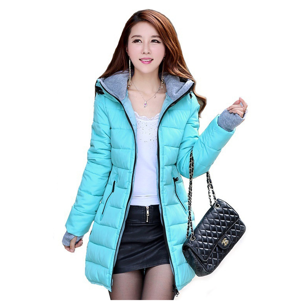 ZOGAA Women Long Winter Coat Thicken   Parka   Jackets Warm Slim Cotton Hooded Down Padded Jacket Outerwear Women Clothes 2019