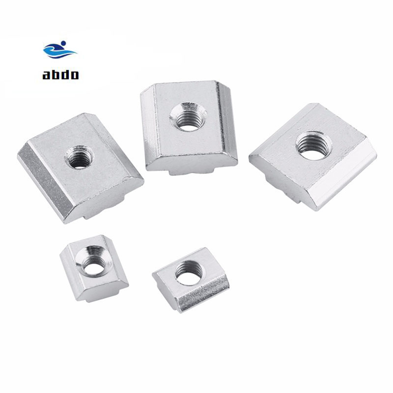 50pcs M3 M4 M5 M6 Nuts T Sliding Hammer Nut Block Square Nuts 20/2020  Aluminum Prof Zinc Coated Plate Aluminum Accessories50pcs M3 M4 M5 M6 Nuts T Sliding Hammer Nut Block Square Nuts 20/2020  Aluminum Prof Zinc Coated Plate Aluminum Accessories