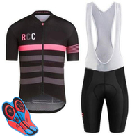 2018 RCC 100% Polyester Pro Cycling Jersey Set MTB Bicycle Clothes Sportswear Bike Clothing Maillot Ropa Ciclismo Cycling Set