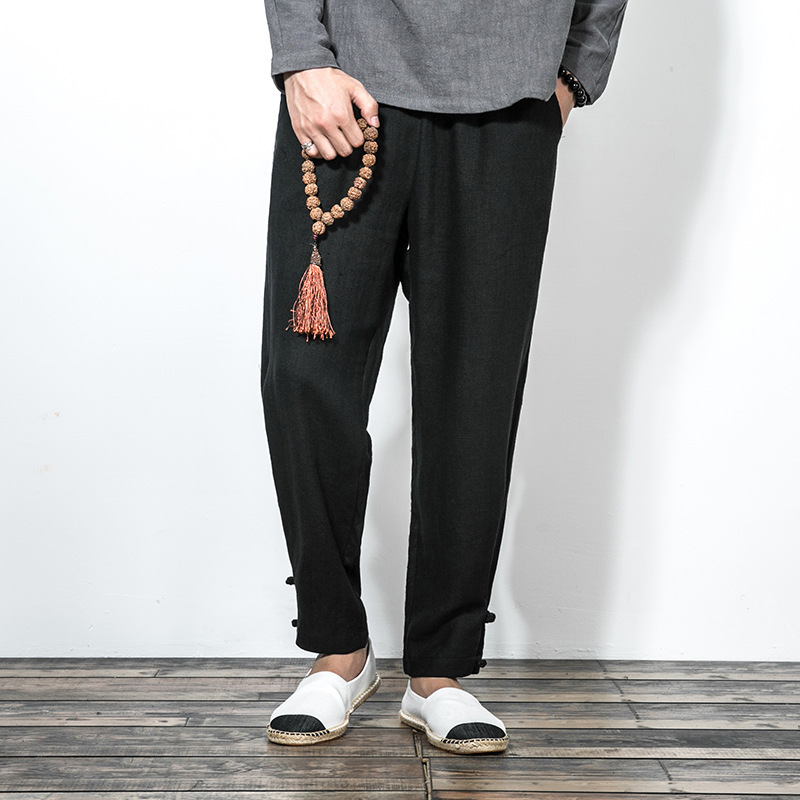 2018 New Arrival Promotion Wide Leg Pants Sweatpants Jogger Chinese Wind Age Season Men