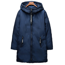 2017 New Clothing Jackets Business Long Thick Winter Coat Men Solid Parka Fashion Overcoat Outerwear Army green Fur collar