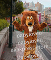 New high quality Friendly Lion Mascot Costume Adult Size Wild Animal Male Lion King Carnival Party Cosply Mascotte Suit Kit