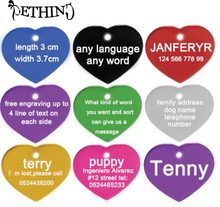 2 pcs/lot personalized pet name tag free engraving pet information dog cat name adress number pet id tag dog cat identity(China)