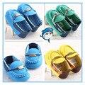 Новый сзт Детская Обувь Синий Зеленый желтый Первый Ходунки Мягкой Подошвой мода Новорожденных Детские Девочку Обувь Повседневная Детская Обувь мальчик