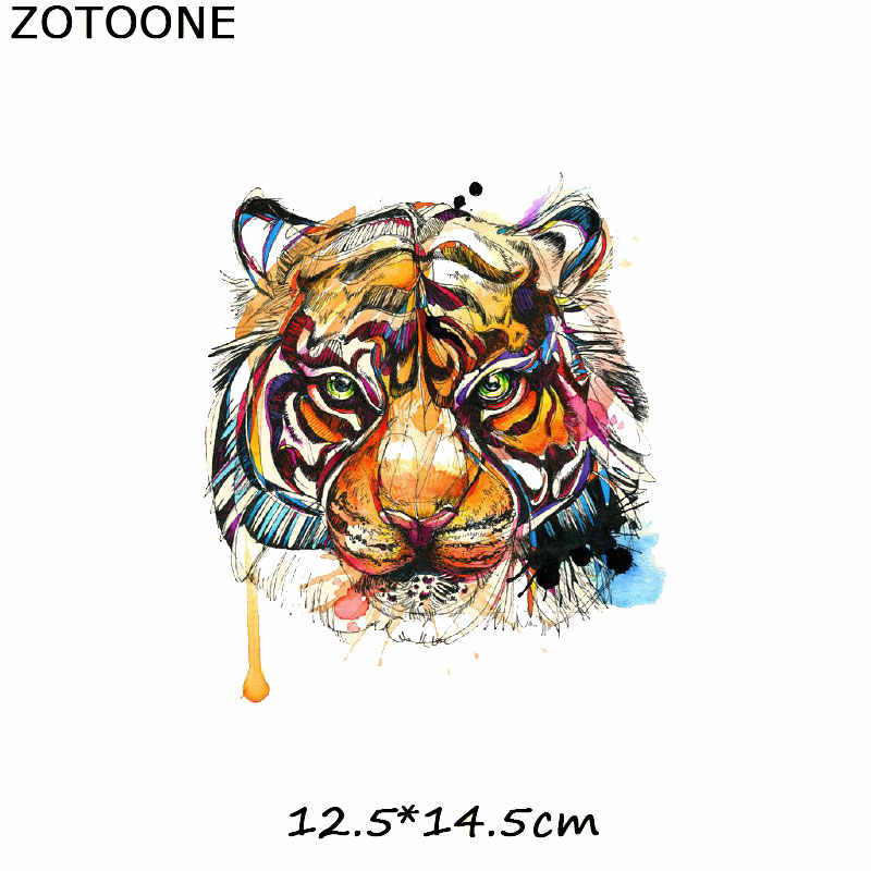 453653de36bb ZOTOONE Iron on Transfer Patch Tiger Lion Dog Animal Patch for Clothes  T-shirt Stickers A-level Washable Heat Press Appliqued C