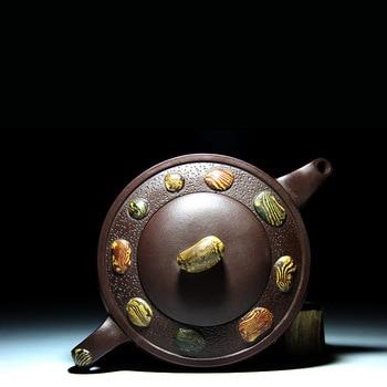 recommended by high Lv Yaochen manually copy the old pot Lv Yaochen of rain flower stones purple sand teapot tea sets