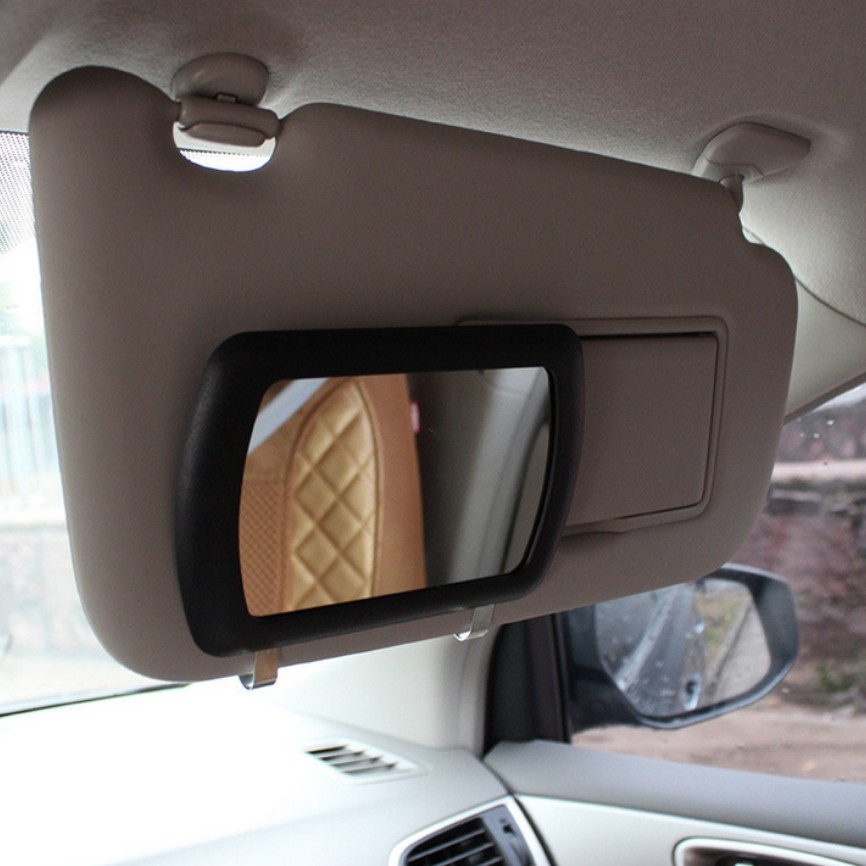 Vanity Light For Car Visor : Sun visor mirror Large Car Makeup Sun-shading Mirror car Cosmetic Mirror Vanity Mirror Auto ...