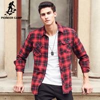 Pioneer kampı yeni rahat gömlek erkekler marka erkek rahat gömlek en kaliteli % 100% pamuk uzun kollu sonbahar bahar erkek gömlek 677160