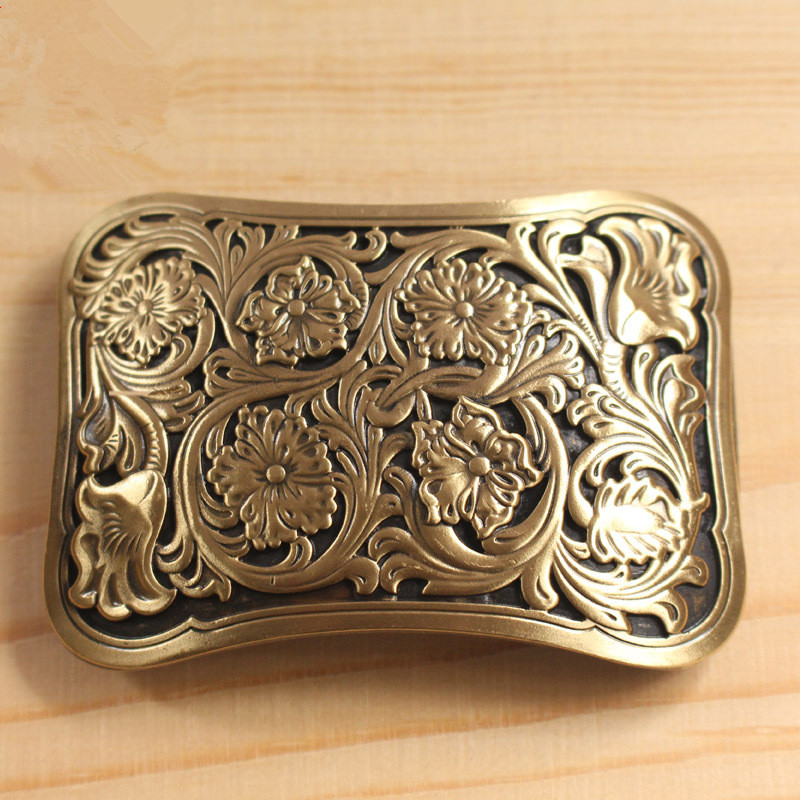 Solid Brass Belt Buckle Men Belt Diy Accessories Vintage Belt Buckles TOP Quality Retro Style Antique Mens Belts Luxury BK0031