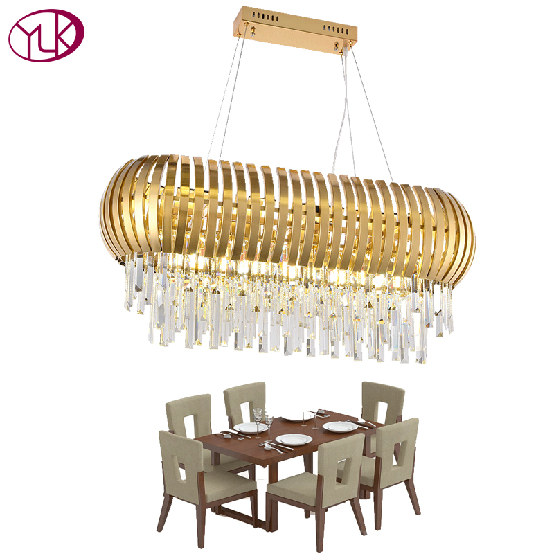 Youlaike New Design Modern Crystal Chandelier Creative Dining Room Luxury Hanging Lamp Gold LED Lighting Chandeliers luxury crystal chandeliers contemporary lamp gu10 led crystal lights chandelier hanging led lamp bedroom decoration lighting