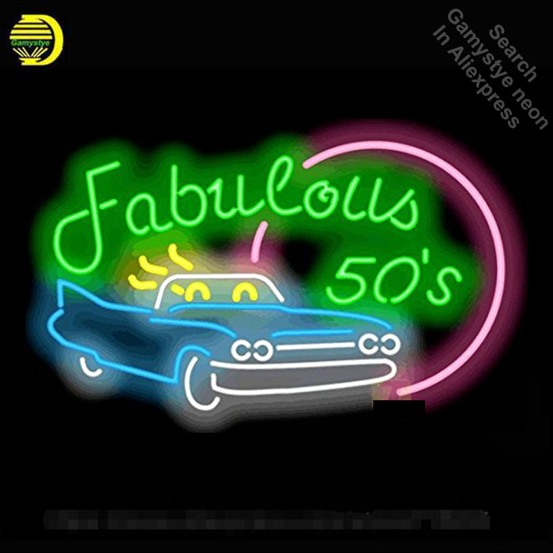 Neon Sign Fabulous 50's Car neon Light Sign Beer Bar Pub Sign Custom Design Handcrafted Hotel Neon signs for sale image