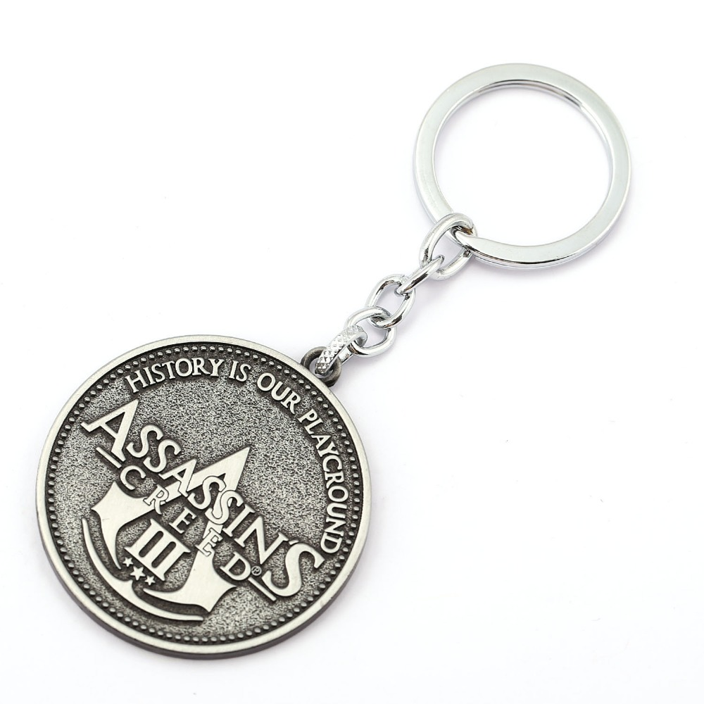 MS Jewelry Assassins Creed Key Chain Assassins Creed 3Key Rings For Gift Chaveiro Car Keychain Game Key Holder Souvenir