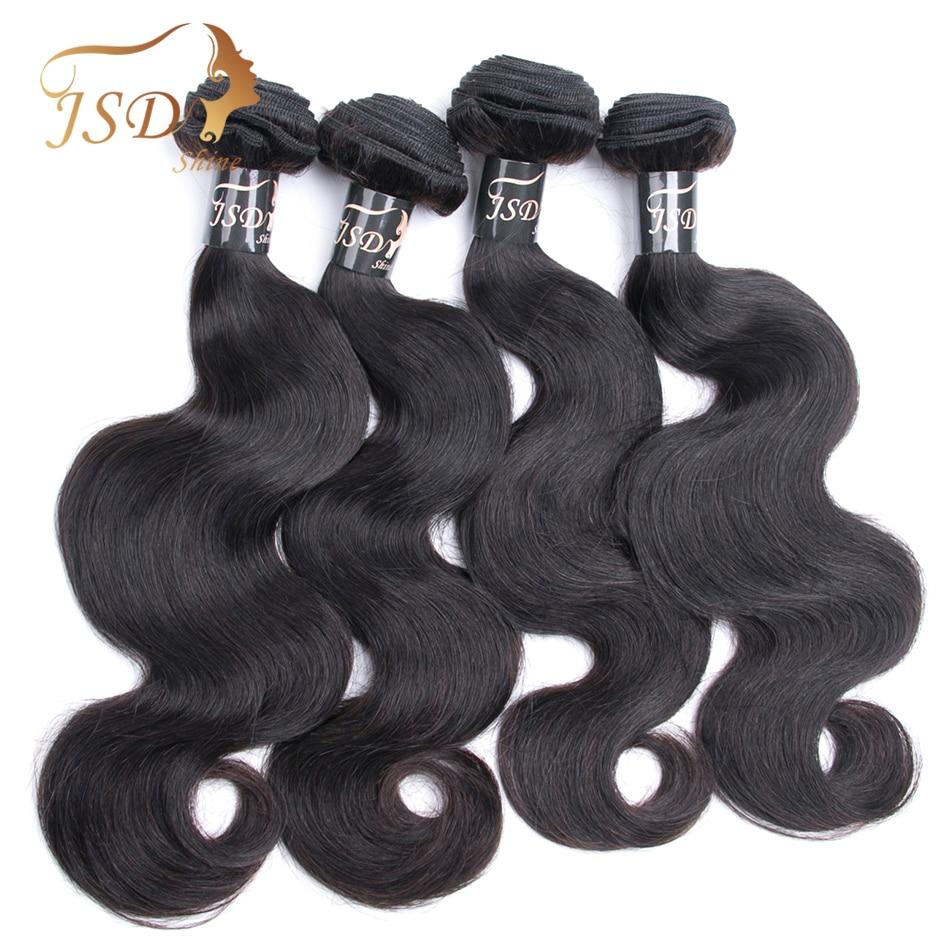 JSDshine Vietnamese Body Wave 4 Bundles Human Hair Bundles With Frontal Closure 13x4 Lace Frontal Closure With Bundles Non-Remy