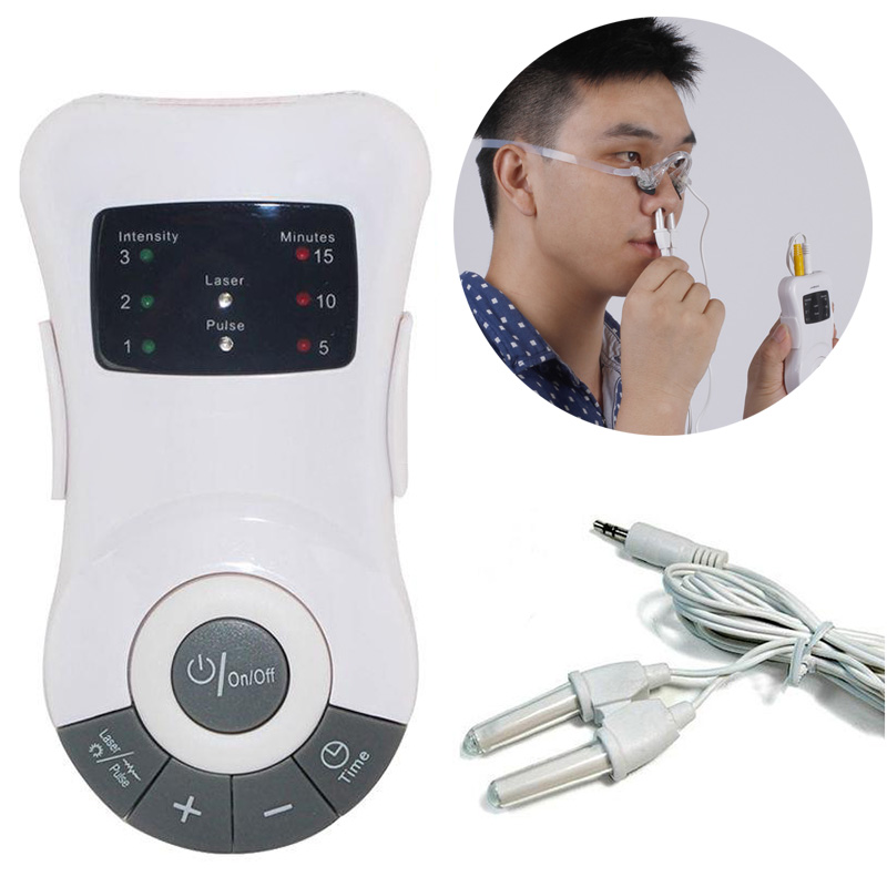 New Rhinitis Therapy Machine Laser Low Frequency Allergy Reliever Hay Fever Sinusitis Treatment Nose Care Massager Device  FM nose rhinitis sinusitis cure therapy massage hay fever low frequency pulse laser health care machine instrument massager care