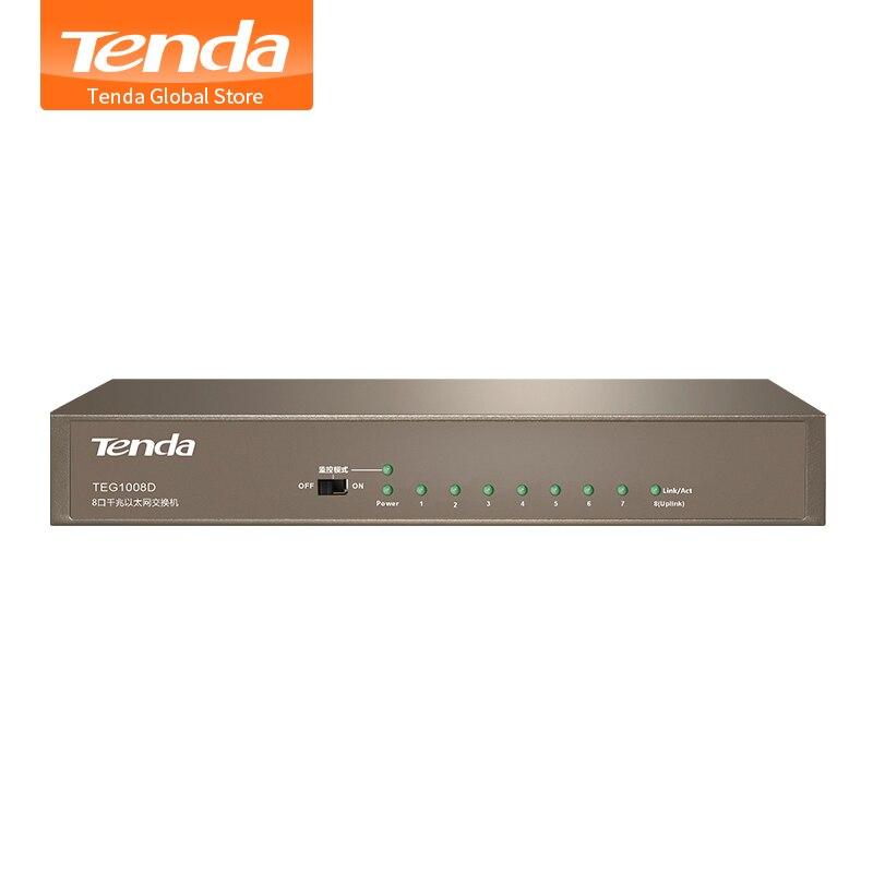 Tenda TEG1008D 8 портов 10/100/1000 Мбит/с гигабитный Ethernet сетевой коммутатор, 16 Гбит/с пропускная способность, 4 кВ Защита от молнии, подключи и работай gigabit ethernet network switch ethernet network switchnetwork switch   АлиЭкспресс