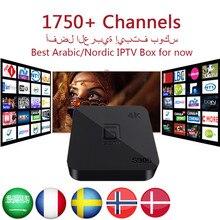 Árabe IPTV GOTiT S905 4 K Android TV Box with1950 + Europa África Gremany Grecia Francés Rusia Turquía Kurdos Persa tv de pago y VOD