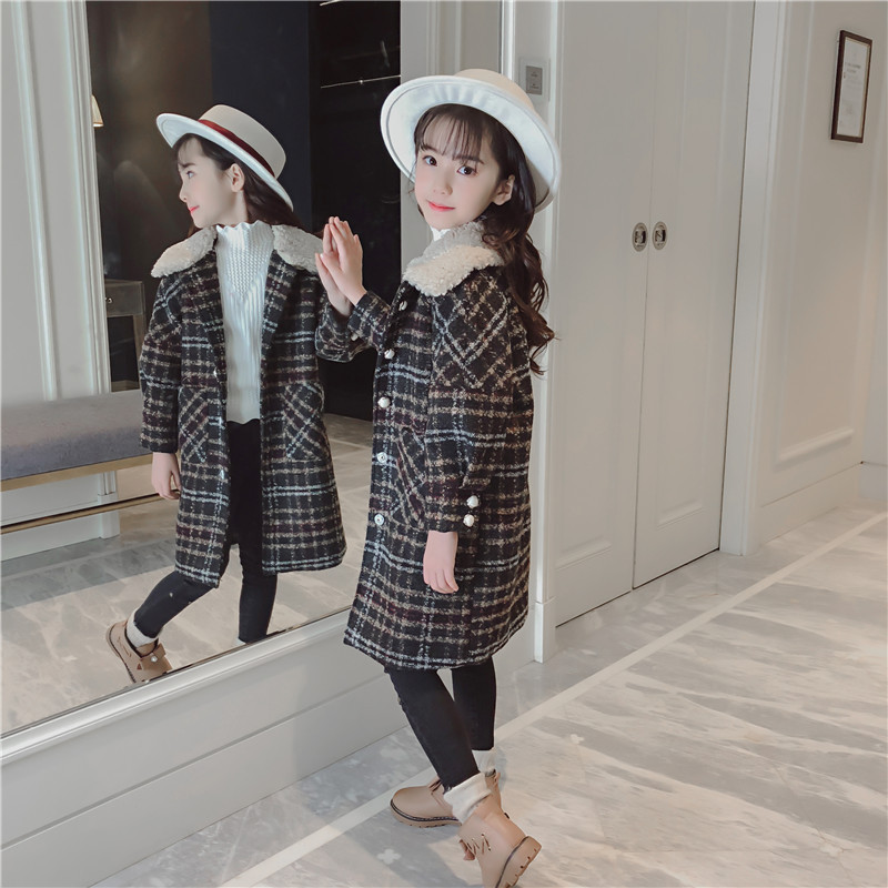 2018 Kids Girls Jackets Teenage Children Coat Winter Warm New Fashion Jackets Woolen Coat 5 6 7 8 9 10 11 12 Years Kids Clothes one button design longline woolen coat page 8