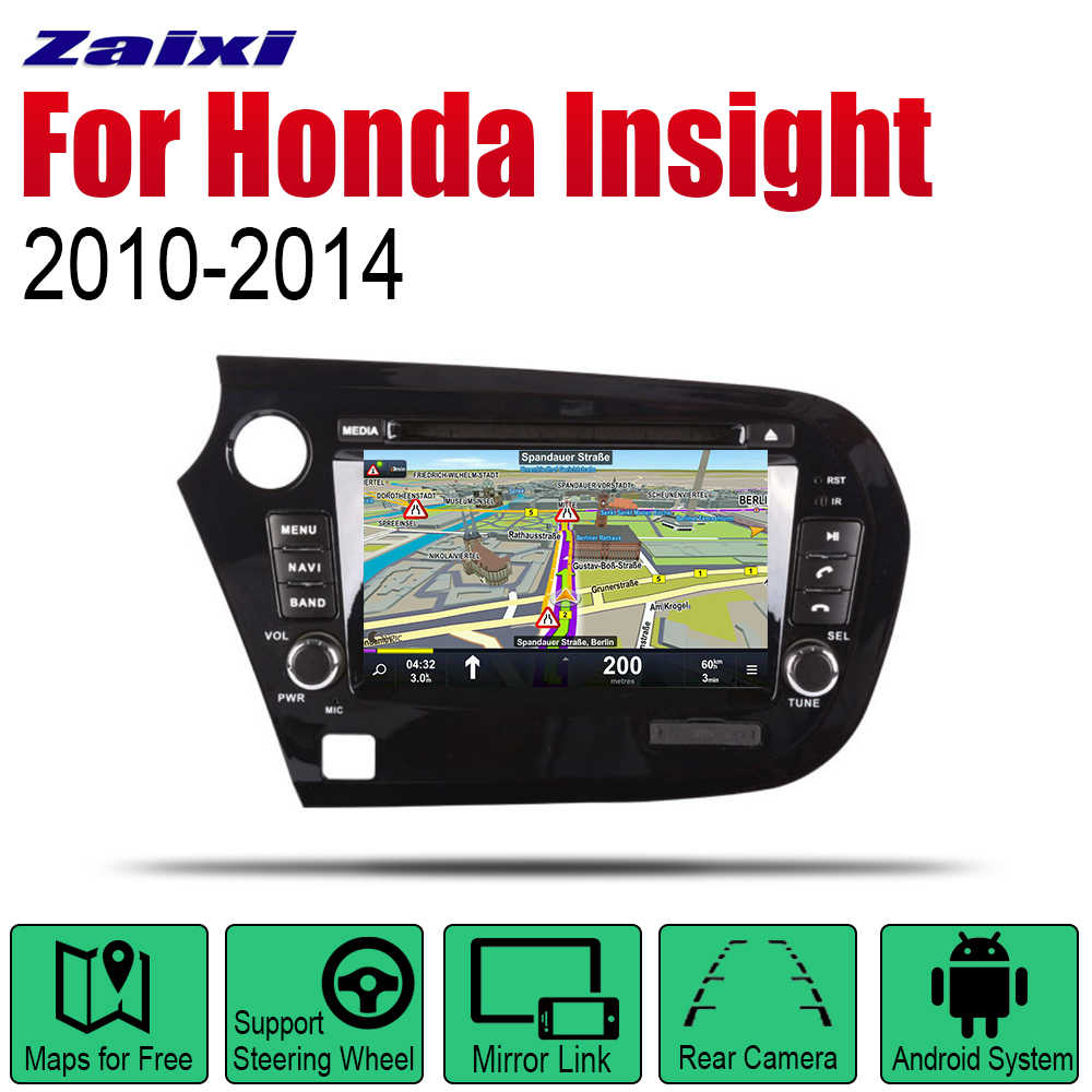 Android 2 Din Auto Radio DVD Voor Honda Insight 2010 ~ 2014 Car Multimedia Player GPS Navigatiesysteem Radio Stereo