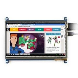 Image 3 - 7 inç ahududu pi dokunmatik ekran 1024*600 7 inç kapasitif dokunmatik ekran LCD HDMI arayüzü çeşitli sistemleri destekler arduino için