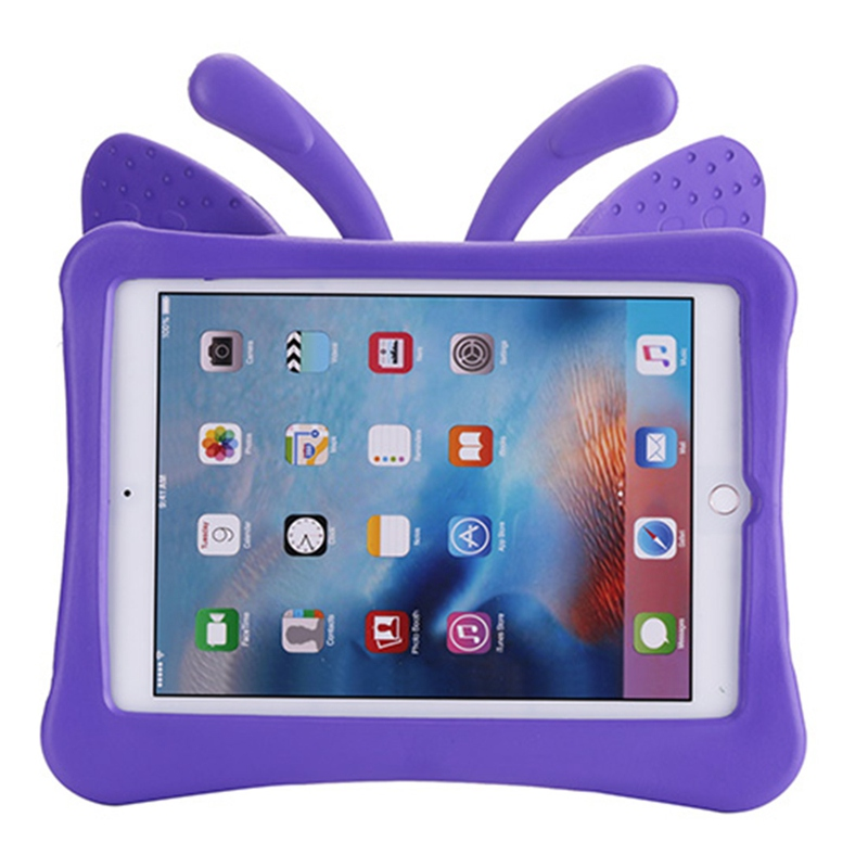 Case For Ipad Air /Air 2 / Ipad Pro 9.7 Butterfly Design EVA Cover With Stand Silicone Para Shell Coque For Ipad 2017 Case