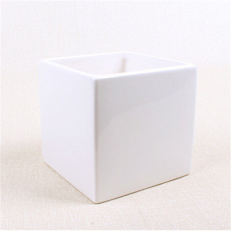 2 Pcsset Small Square Ceramic Flower Pots Vases Creative Home