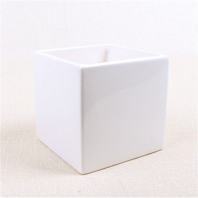 Online Shop 2 Pcsset Small Square Ceramic Flower Pots Vases