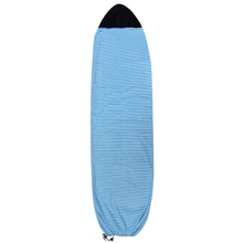 Surfboard Socks Cover 6Ft Blue And White Stripes Surf Board Protective Bag Storage Case
