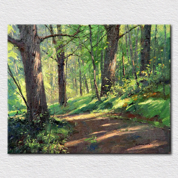 Us 49 93 5 Off Green Forest Oil Painting Beautiful Natural Art Paintings For Living Room Wall Canvas Art For Businessman Gift In Painting