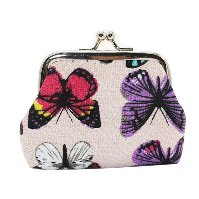 22a9db941a9a Hot Selling Womens Butterfly Small Wallet Holder Coin Purse Clutch kawaii Women  bag mini purses monederos