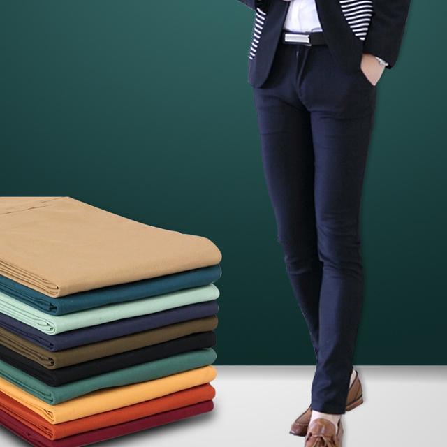 2017 dos homens Calças retas de ajuste X8 versão atualizada de verão fina seção de algodão dos homens calças de algodão casuais calças pés masculinos de alta q
