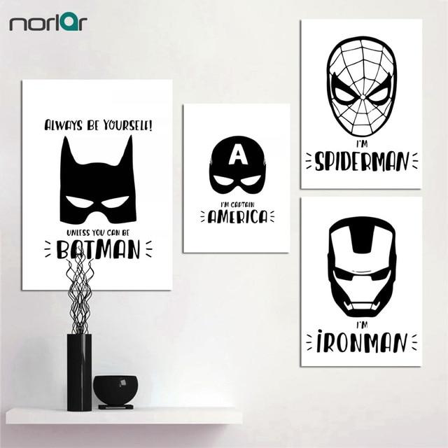 Impresion De Cartel De Superheroe De Dibujos Animados De Lona De