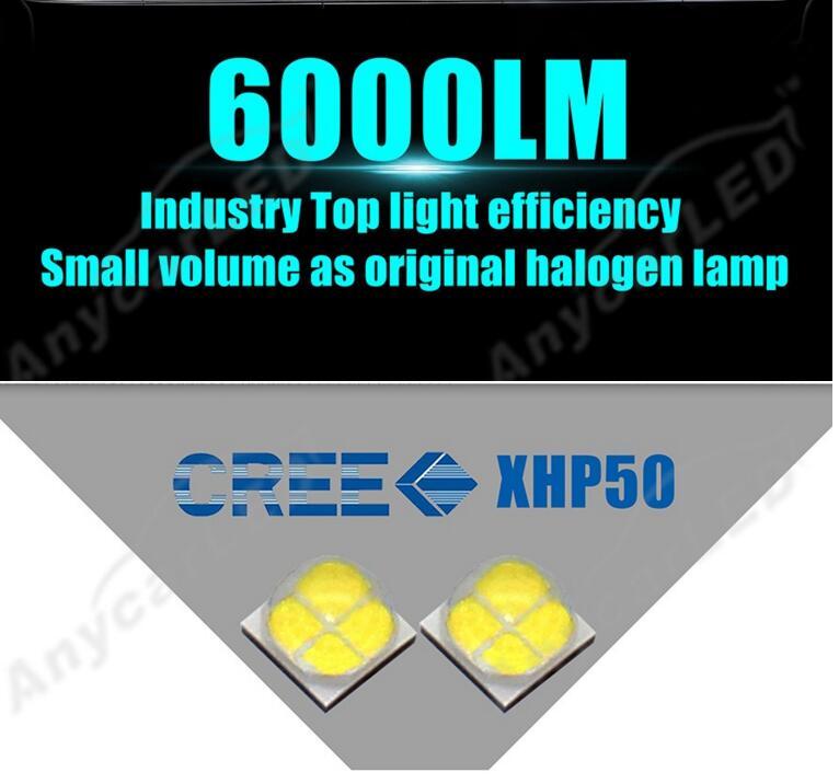 1 Set H4 HB2 9003 80 W 12000LM G8 LED Headlight Kit XHP-50 4LED SMD - Lampu mobil - Foto 4