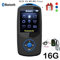 2017 New Original RUIZU X06 Bluetooth Mp4 Player 16GB 100hours High Quality Lossless Recorder Walkman FM