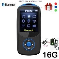 2017 New Original RUIZU X06 Bluetooth Mp4 Player 16GB 100hours High Quality Lossless Recorder Walkman FM