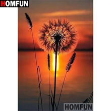 HOMFUN Full Square/Round Drill 5D DIY Diamond Painting Sunset scenery 3D Embroidery Cross Stitch Home Decor A21343