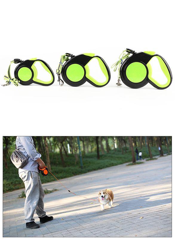 3 5 8M Retractable Dog Leash Reflective Tape Dog Leashes Nylon Extending Puppy Walking Running Dogs Leads Traction Rope in Leashes from Home Garden