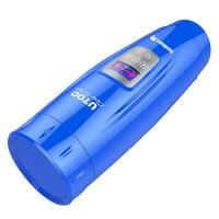 BLAU Männliche Masturbation Vollautomatische Elektrisch Druckkolben Rotation vibrator Masturbator Sexspielzeug Für Mann Erwachsenes Produkt