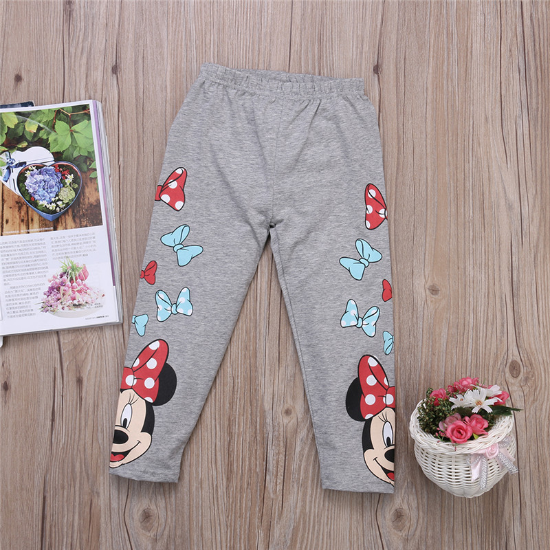 Children Cotton Girl Leggings Full Length Minnie Mouse Baby Girl Trousers Pants Leggings