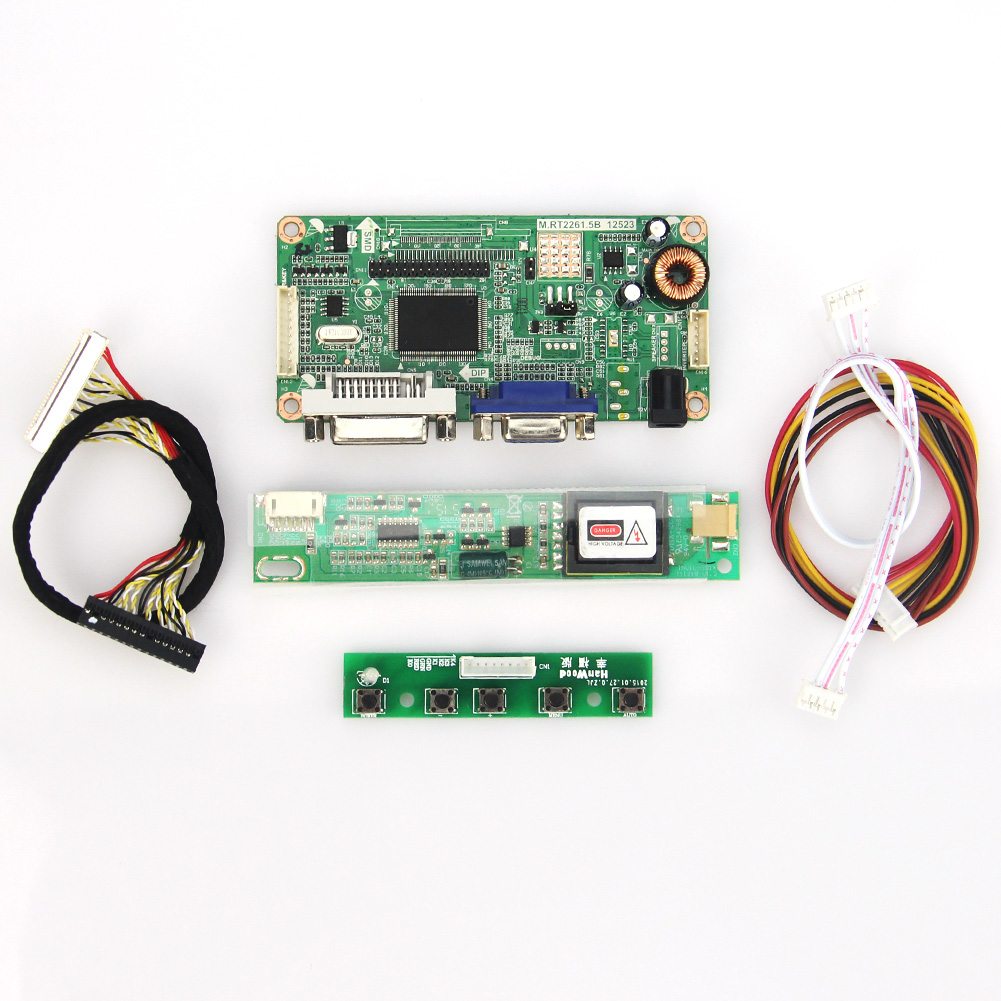 VGA+DVI M.RT2261 M.RT2281 LCD/LED Controller Driver Board  For LP171W02(A4)  LVDS Monitor Reuse Laptop 1680x1050
