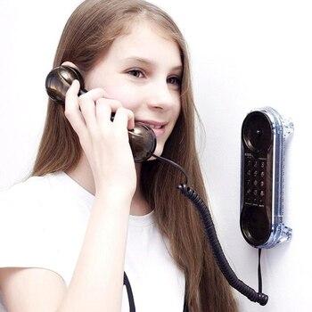 Мода настенный телефон проводной телефон стационарный Античный Ретро телефоны для домашнего отеля небольшой удлинитель телефона