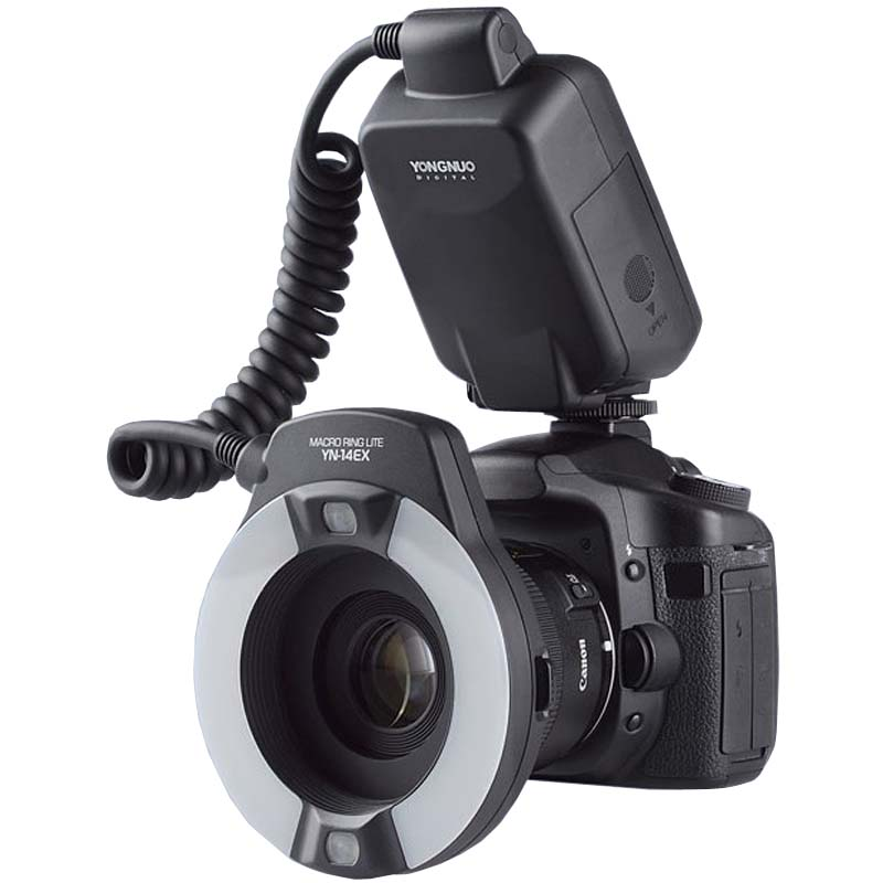 Yongnuo TTL Macro Ring Flash Lighting Light YN-14EX for Canon Cameras as MR-14EX yongnuo yn 14ex macro ring ttl flash light adapter for canon dslr 6d 7d lf464%3