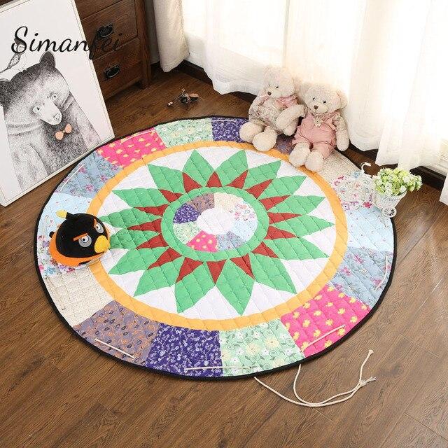 Simanfei Cartoon Carpets Animal FoxBearTree Yoga Mat Baby Creeping Stunning Carpets For Bedroom Decor