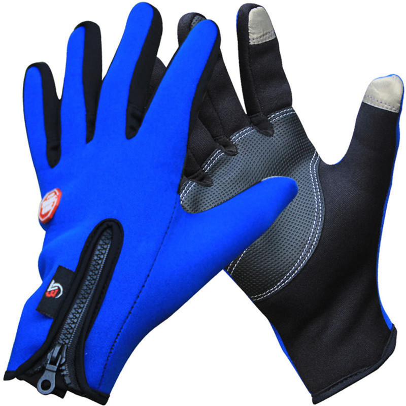 Al aire libre deportes de invierno térmicas guantes a prueba de viento caliente ciclismo completo, esquí, motocicleta, senderismo guantes para pantalla táctil del teléfono