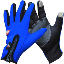 Outdoor Winter Thermal Bike Gloves Windproof Warm Full Finger Cycling,Ski,Hiking Touch Screen Glove for Men,Women