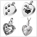 4PCS/Set Always In My Heart Pet Urn Pendant for Ashes Memorial Cremation Jewelry w/ Funnel Filler Kit Chain