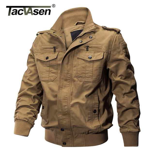 TACVASEN Men Winter Military Jacket Cotton Bomber Jacket Coat Navy Pilot Jacket  Men s Air Force Casual Jacket Autumn Clothing 6fbffbfb743