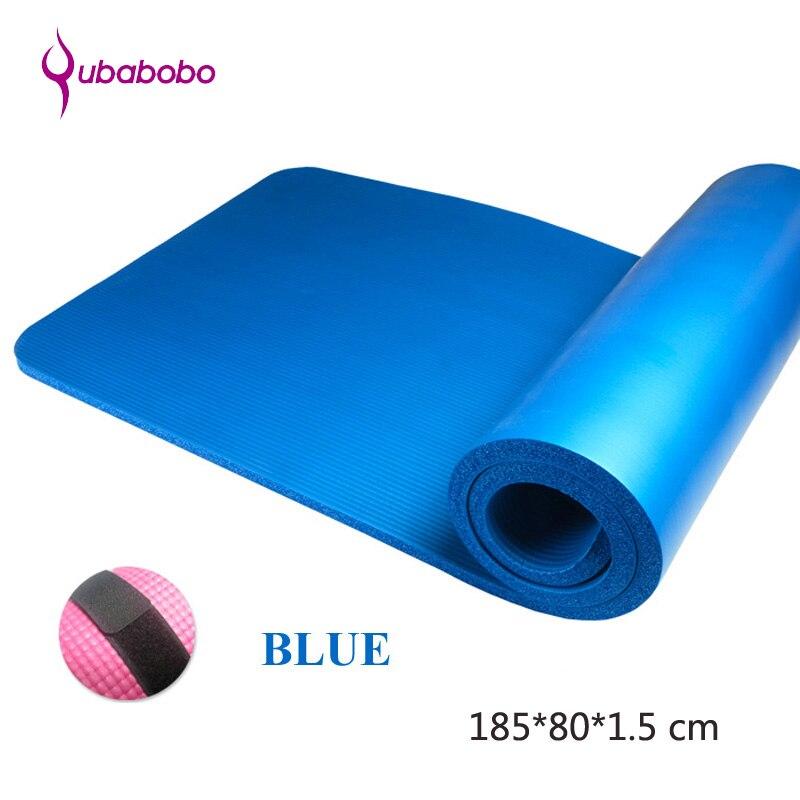 15 MM NBR marque antidérapante tapis de Yoga pour Fitness Pilates tapis de gymnastique tapis de Sport tapis d'exercice Camping et danse tapis 185*80*1.5 cm